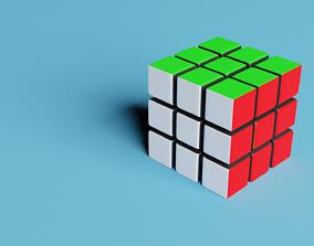 low-poly Rubiks Cube 3D model