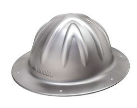 Vintage Skull Bucket Aluminum Hard Hat 3D