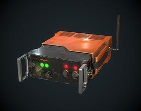 Sci-fi Transmitter Communication Device PBR 3D model