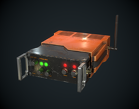 Sci-fi Transmitter Communication Device PBR 3D model