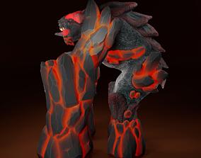 Fire Elemental 3D asset