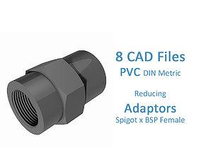 3D model PVC Reducing Adaptors - Spigot x BSP Female -