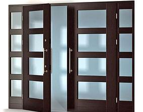 3D Modern Chestnut Colored Door