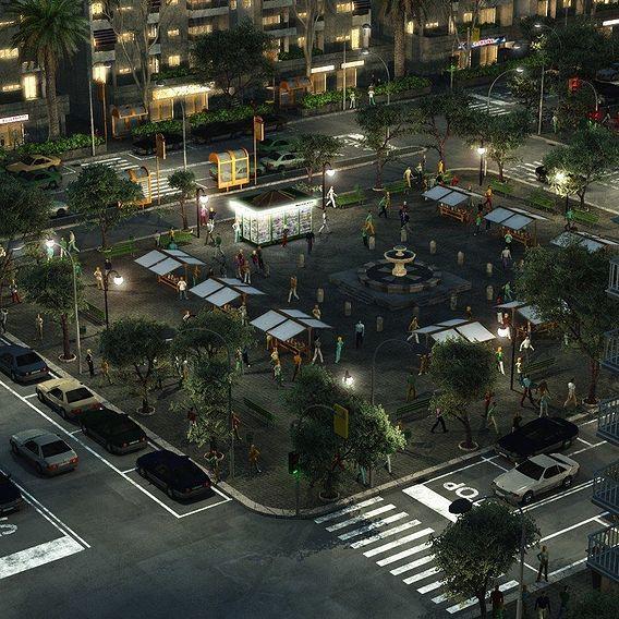 City zone by night