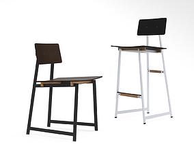 TokenNYC Tea chair and barstool and UP Tea barstool 3D