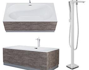 3D Acrylic bathtub Ideal 180x90