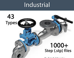 DIN - VALVES AND FITTINGS INDUSTRIAL - STEP 3D model