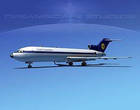 Boeing 727-200 Lufthansa 2 3D model