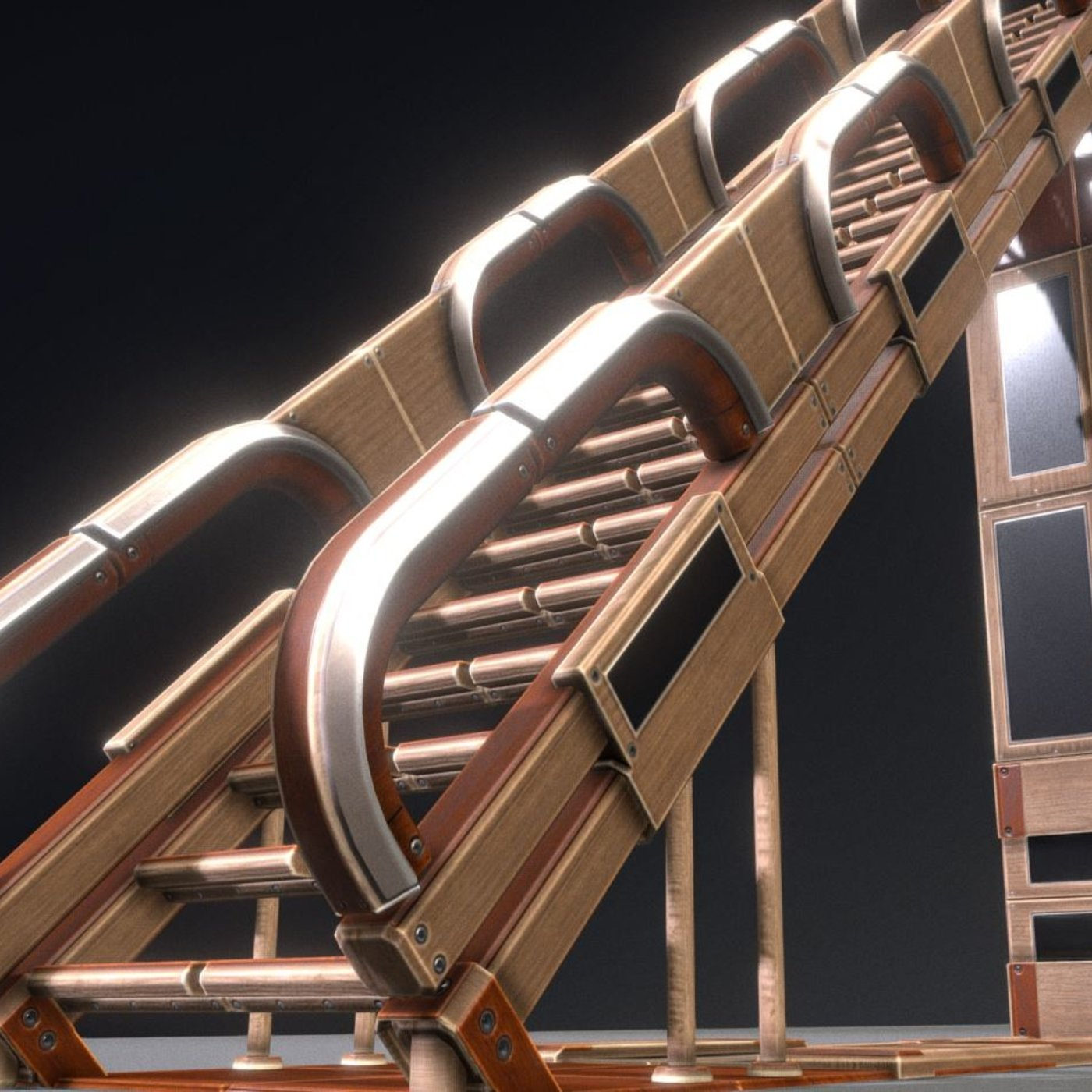Modular Wood Ladders and Stairs