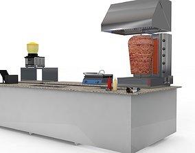3D model Doner Stand Cafe