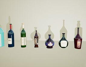 Bottles 3D asset realtime