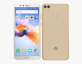 3D Huawei Y9 2018 Gold