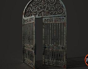 3D asset realtime Old Gate-01A V001