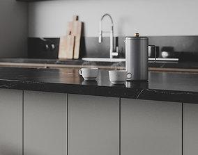 Dark Nordic Kitchen for Cinema 4D and Corona Renderer 3D