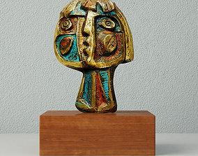 3D Modernist Bronze Abstract Sculpture