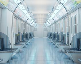 train interior made in blender 3D model