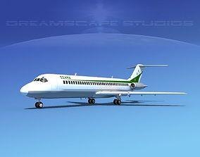3D Douglas DC-9-30 Ozark Airlines