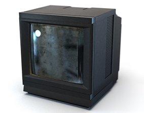 Retro CRT Television 3D asset