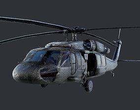 GAME READY Sikorsky UH60 Black Hawk Helicopter 3D model 1