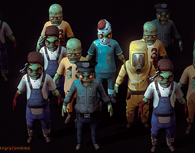 3D asset Angry Zombies