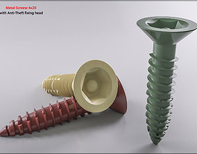 Metal Screw 4x20 Original Sizes Ready for 3D Print
