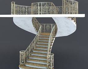 Bifurcated Stair rail 3D