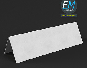Table tent template 5 3D