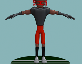 3D asset Stylized Football Player