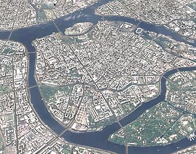 Cityscape Sankt-Peterburg Russia 3D model