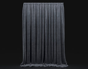 Curtain Grey-20 3D