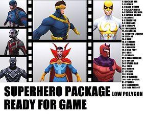 Superhero Model Package animated