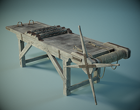 Medieval Torture Rack PBR 3D asset