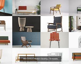 3D Mid-Century Modern Seating