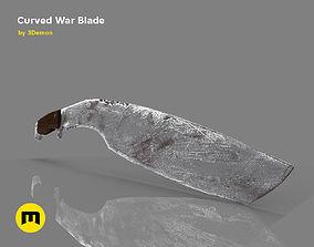 3D print model Curved War Blade