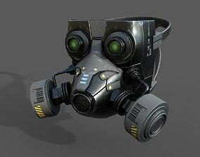 Gas mask helmet scifi military combat 3d model realtime