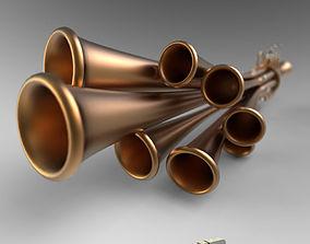 Shawm Schalmei brasswind 3D model