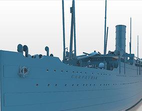 RMS Carpathia full hull and waterline printable