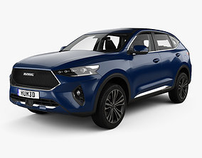 3D model Haval F7 with HQ interior 2019