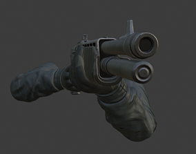 FPS Hand with Shotgun animated 3D model