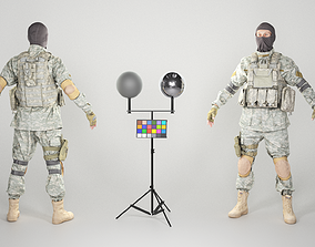 Military man in balaclava 130 3D model