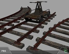 3D asset Railroad trolley draisine