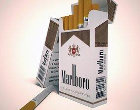 3D model Marlboro lights cigarette pack
