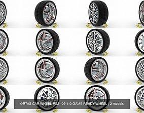 ORTAS CAR WHEEL RIM 109-110 GAME READY WHEEL 3D model