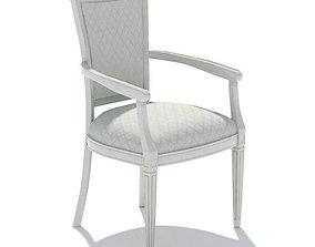 3D White Chair With Cushion