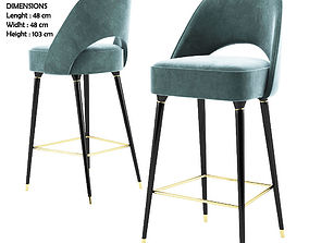 barchair Collins Bar Chair - Essential home 3D