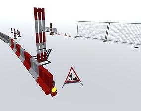 Road works pack 3D asset