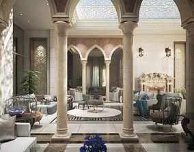 3D model luxury arabian living room
