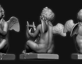 Sculpture Kid Angel 3D Print Model cupid
