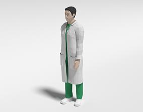 3D asset Low Poly Man Doctor