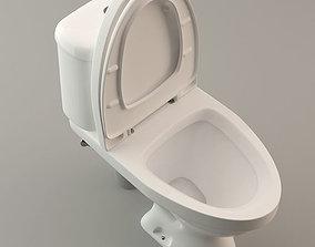 3D Toilet Lavatory Loo - High Poly Model